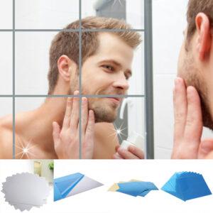 10st spegel klistermärken kakeldekor spegel vägg