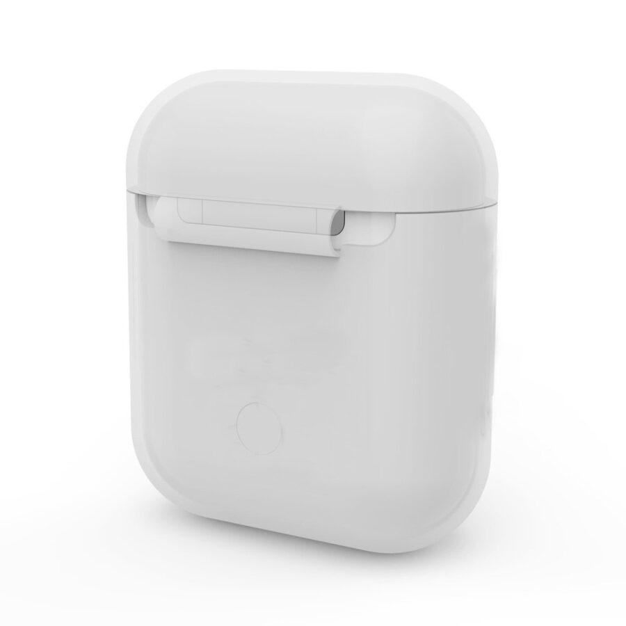 Silikonskal fodral för Apple Airpods / Airpods 2 - Vit