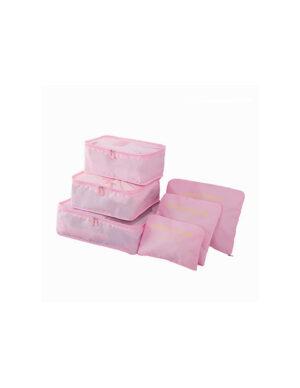 Rosa 6st Insatser till resväskor