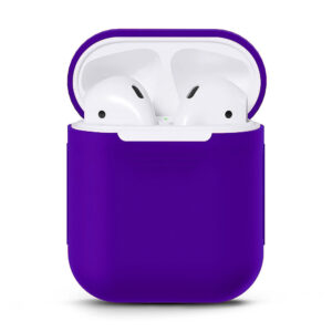 Silikonskal fodral för Apple Airpods / Airpods 2 - Lila