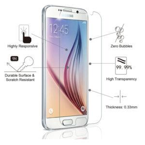 Displayskydd i härdat glas till Samsung S6