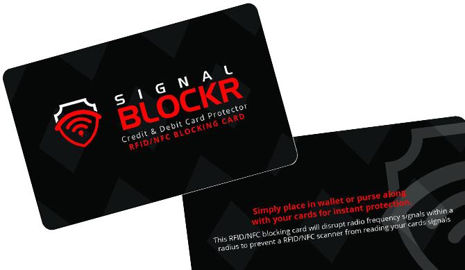 RFID Blockerings kort - RFID skydd - Skimming Blocker