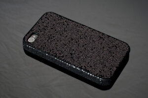 Skal till Iphone 4/4S Svart Glitter Bling