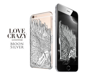 iPhone 6/6s änglavingar skal Silver