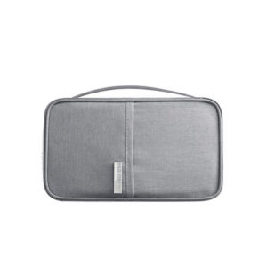 RFID Skydd - Grå universell Resa plånbok Passfodral