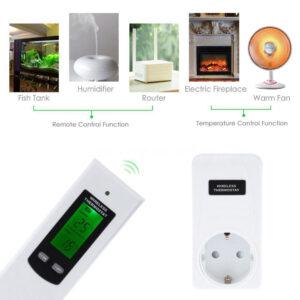 Trådlös termostat RF 433MHz frost- och temperaturkontroll 3KW