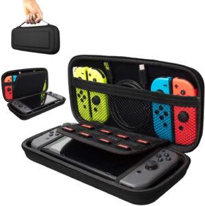 Förvaringsväska, Fodral för Nintendo Switch, Svart