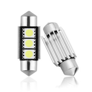2X CANBUS C5W SV8,5 Festoon 3 LED 5050 36mm- Vit