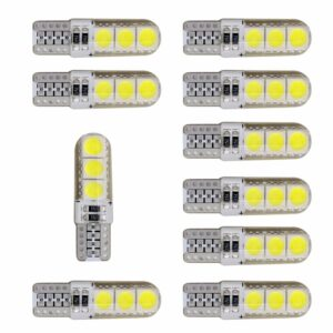 10X CANBUS T10 W5W 6 LED - Vit