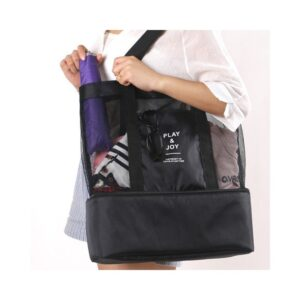 Stor Smidig Väska med Extra Kyl Utrymme Svart