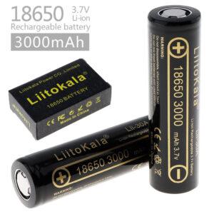 2X LiitoKala Lii-35A 18650 3000mAh Uppladdningsbart Lithium-Ion