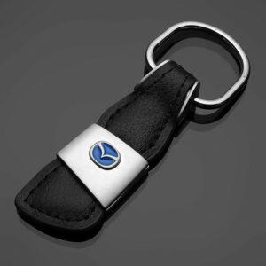 Äkta Läder Mazda nyckelring