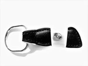 Äkta Läder Porsche nyckelring