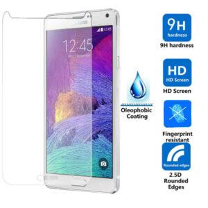 Displayskydd i härdat glas till Samsung Galaxy Note 4