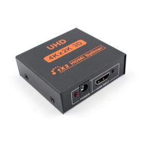 HDMI Splitter Switcher för 1 bildkälla till 2 bildvisare 4K
