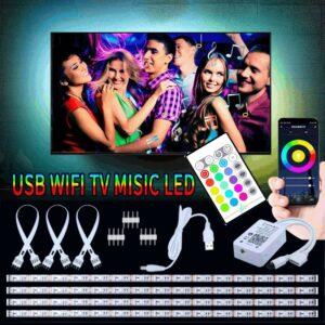 LED-slinga för till TV APP / Wifi + Fjärrkontrol + Ljud styrning