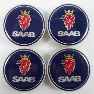 Saab02 - 63MM 4-pack Centrumkåpor Saab