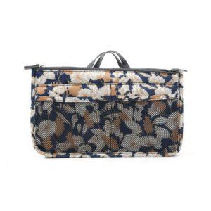 Bag in Bag Handväskinsats Väskinsats Blomma Beige