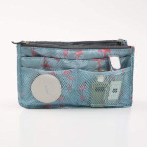 Bag in Bag Handväskinsats Väskinsats Flamingo Blå