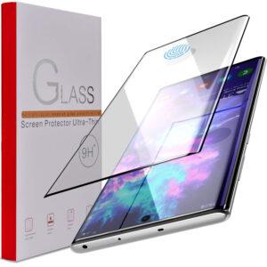 Härdat Glasskydd Samsung Note 10 Plus Full Fit ,Fingerprint Monteringsram