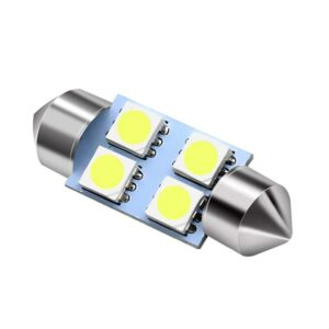 2x CANBUS C5W SV8,5 Festoon 4 LED 5050 31mm- Vit