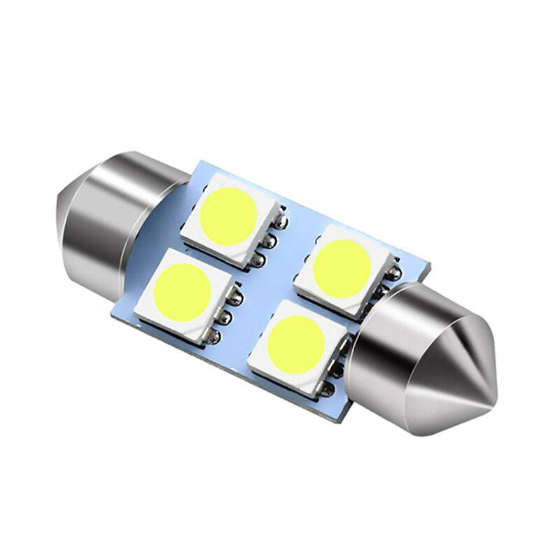 2x CANBUS C5W SV8,5 Festoon 4 LED 5050 31mm- Vit
