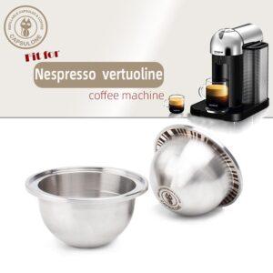 Kaffekapsel, Nespresso Vertuo metallkapsel set