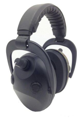 Svart Aktiva hörselskydd Aktiv brusreducering 4X Mikrofon