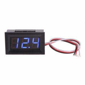 Blå Digital Voltmätare 3.3-30V