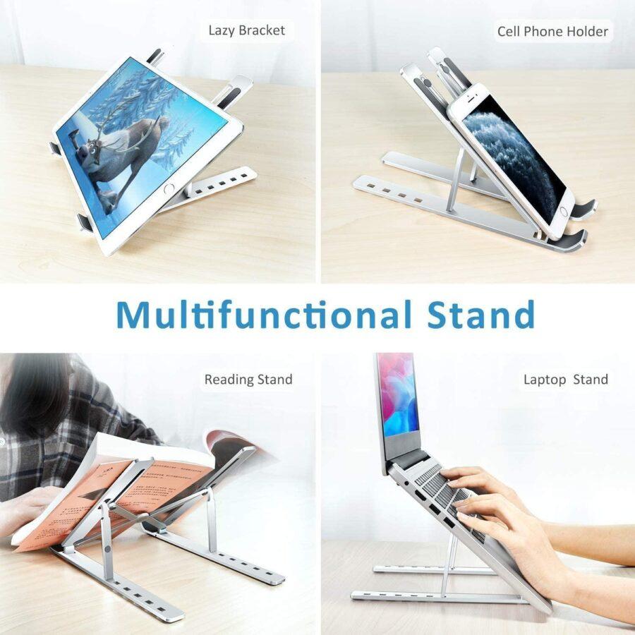 Bärbar justerbart ställ för Laptop, bärbar dator, surfplattor..