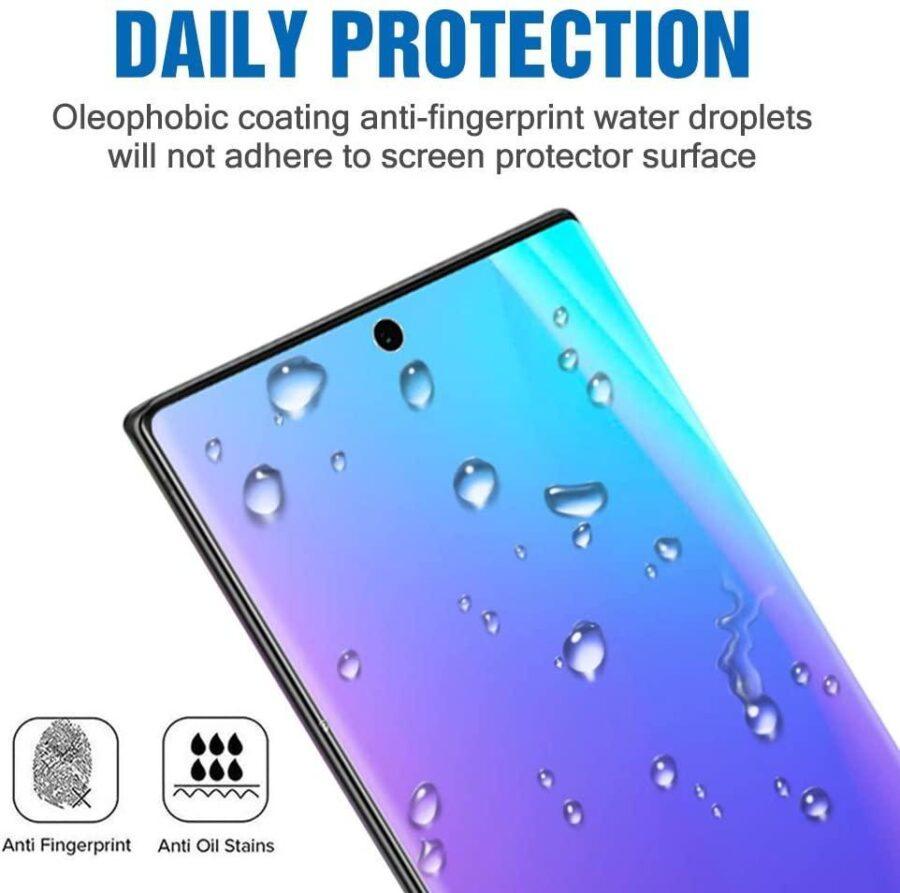 Härdat Glasskydd Samsung Note 20 Ultra Full Fit ,Fingerprint