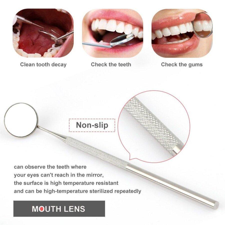 Tandverktyg av professionellt för tandhygien 6 delar med etui