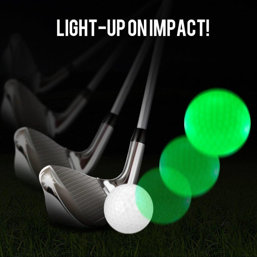 Lysande golfbollar, 3-pack
