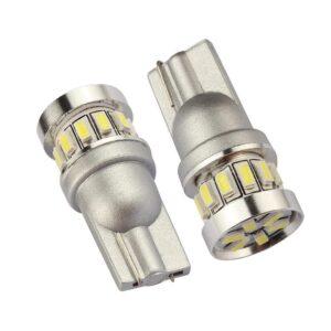 2X T10 Canbus W5W 18 st 3014 LED - Vit