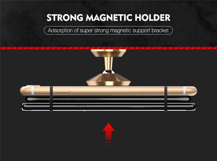 Floveme Universal Magnetisk Mobil hållare till bilen Svart