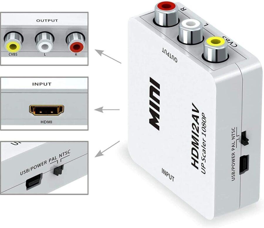 Composite RCA CVBS AV To HDMI Converter Adapter