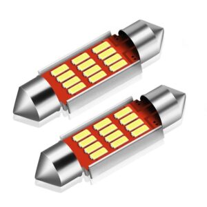2x CANBUS C5W SV8,5 Festoon 12 LED 4014 39mm- Vit