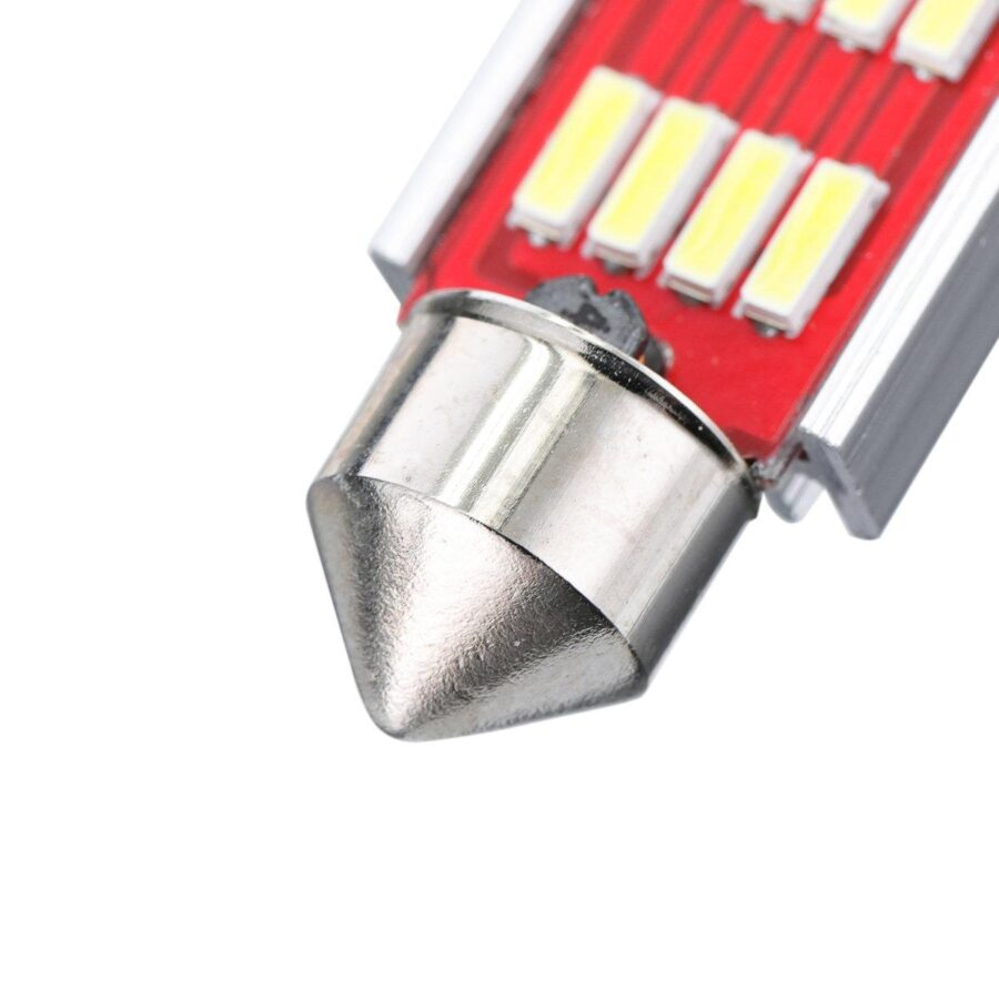 2x CANBUS C5W SV8,5 Festoon 12 LED 4014 41mm- Vit
