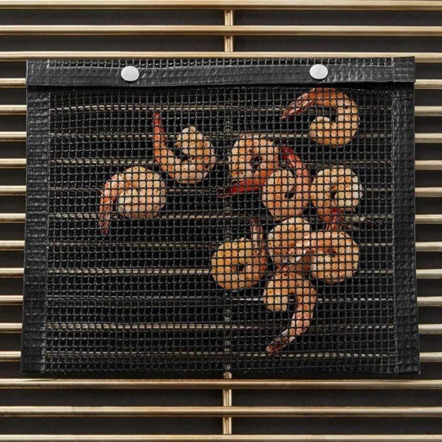 2X Grillpåsar, Meshpåsar för Grillning