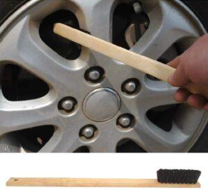 40cm bamboo borste för rengöra fälgar motordelar