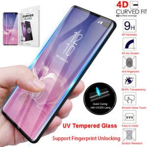 Heltäckande UV Ljus härdat Glas till Samsung Galaxy S10