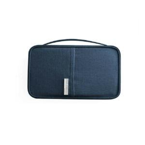 RFID Skydd - Blå universell Resa plånbok Passfodral