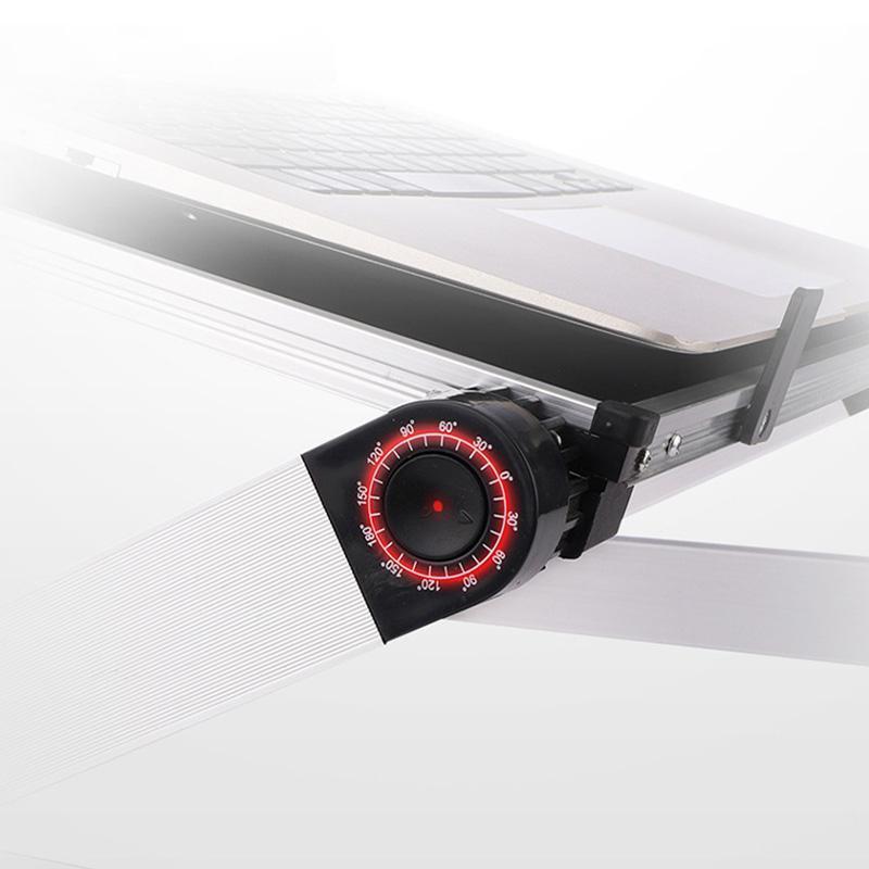Hopfällbar Laptopbord, Aluminium ergonomisk stativ (vit)