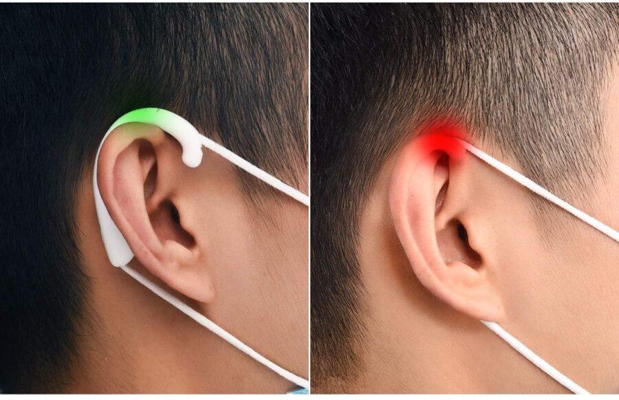 Öronskydd i silikon för ansiktsskydd / Munskydd / Skyddsmask