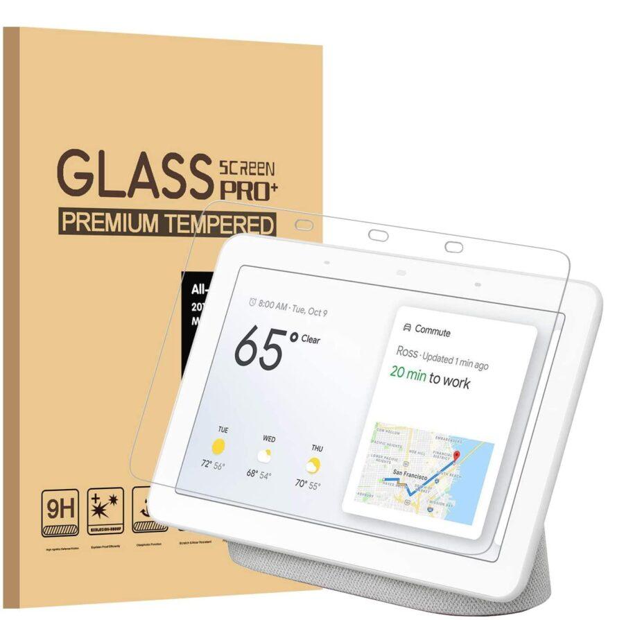 Härdat glas skärmskydd Google Nest Hub 7 tum