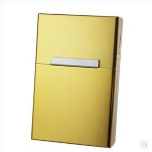 Guld Cigarettetui hela cigarettpaketet cigarrettfodral