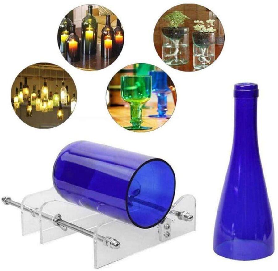 Flaskskärare av rostfritt stål och akryl