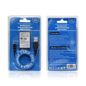 Ps4 Kontroller Batteri 2000mAh 2xbatteri tid