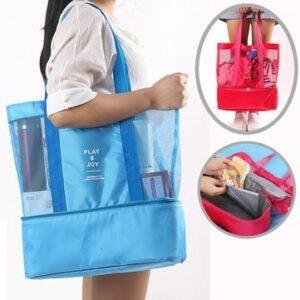 Stor Smidig Väska med Extra Kyl Utrymme Blå