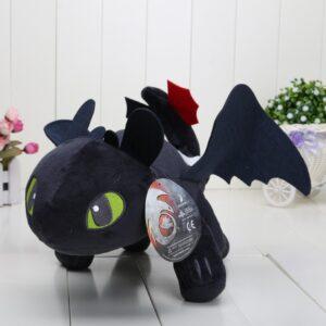 Svart How To Train Your Dragon - Toothless mjukisdjur 60cm